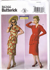 Vtg 40s Retro Shirred Peplum Dress Belt Sewing Pattern Plus Sz 14 16 18 20 22