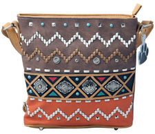 Colorful Tribal Native Concho Concealed Carry Crossbody Handbag Shoulder Purse