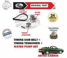 FOR VAUXHALL ASTRA CABRIO 1.6 1987-> TIMING CAM BELT TENSIONER + WATER PUMP KIT