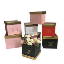 3pcs/set Gold color cover Square flower packing box Valentines's day gift boxes