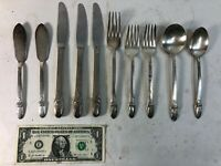 Lot of 10 - 1847 Rogers Bros First Love Silver Plate Flatware