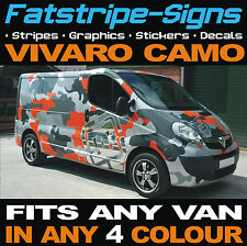 VAUXHALL VIVARO VAN CAMO KIT VINYL GRAPHICS STICKERS DECALS BONNET ROOF DAY VAN