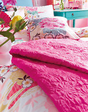 ACCESSORIZE BUTTERFLY QUILTED Bedspread Pink Shabby Chic 220x200cm Double Fushia