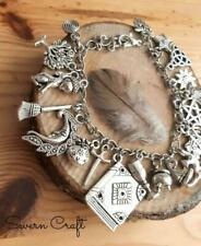 Handmade Wicca multi charm bracelet witch
