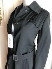 NEW $1295 Allegri Elegant Jacket Belted Coat Womens SIZE 38 ITALY -Black-us sz 2