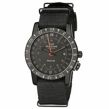 Glycine Men's 3887.99-TB99 Airman Base 22 Mystery GMT Automatic Black IP Watch