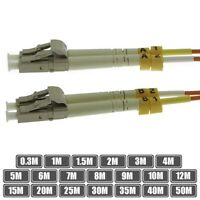 0.3M - 50M LC to LC Duplex Multi Mode 62.5/125 Fiber Optic Optical Patch Cable