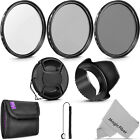 Altura Photo 52MM UV CPL ND4 Filter Kit with Bundle for Nikon Pentax Lens