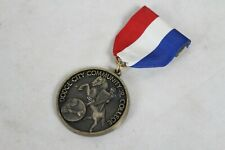Vintage Baseball Medal Trophy Dodge City College Ribbon 1969 Knight Horse Rare