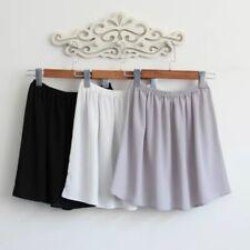 Women Chiffon Short Petticoat Shirt Extender Half Slip Skirt Underskirt