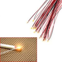 T0603WM 20pcs Pre-soldered micro litz wired leads Warm White SMD Led 0603