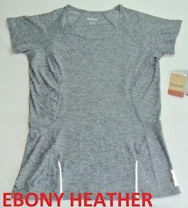 Reebok Women's T Shirt XS Slim Athletic Fit Gray Orange Red Grey Dry Active New