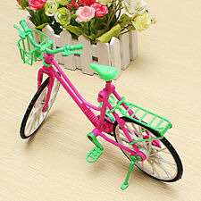1:6 Hot Toy Plastic Bike Bicycle With Basket For Barbie Doll Outdoor Accessories