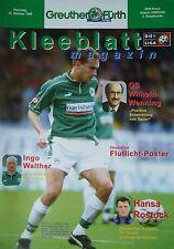 Programm Pokal 1999/00 SpVgg Greuther Fürth - Hansa Rostock