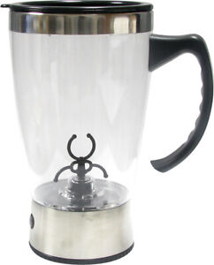 PORTABLE DRINK MIXER 16oz Tornado Mug Cup Battery Shake Protein Shaker Blender