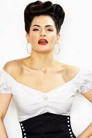 Collectif Dolores White Top Gypsy Peasant 40s 50s Rockabilly PinUp Plus 6 - 22