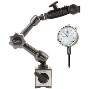 """Noga NF61003 70lb 3D Magnetic Base & 1"""" Dial Indicator Set"""
