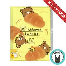 Japan San-X Rilakkuma Bakery A4 File 6+1 Pockets Folder Clear Bag Cute Kawaii