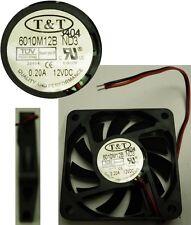 NEW Ball Bearing 60mm*10mm T&T 6010M12B-ND3 12VDC/12V/9V Fan/Blower 2wire 6010