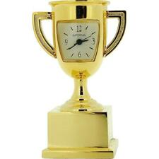 Miniature Goldtone Metal Trophy Winners Cup Novelty Collectors Clock IMP1049