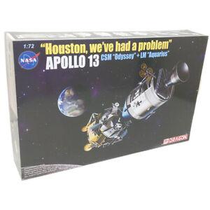 """Dragon D11020 NASA Apollo 13 CSM """"Odyssey"""" & LM """"Aquarius"""" Module Model Kit 1:72"""