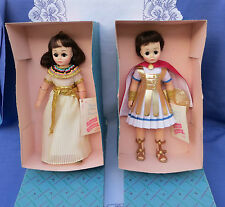 Madame Alexander Cleopatra #1315 and Marc Antony #1310 with Boxes & Tags  1976