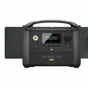 EcoFlow River600 PRO Fast charge 720Wh Solar Generators with 110w Solar Panel