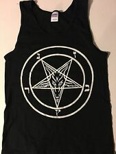 PENTAGRAM Tank top SMALL T Shirt horror gothic occult satanism 666 FREE SHIPPING