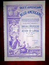 Société Hypothécaire Belge-Américaine ,Argentina , share certificate. 1948