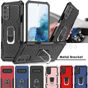 For Samsung S21 Ultra S20 FE S10 S9 S21+ Armor Ring Stand Shockproof Case Cover