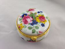 Decorative Porcelain Trinket Dresser Box