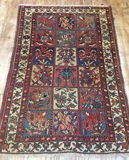 Antique Persian Bakhtiar Hand Woven Garden Design Rug
