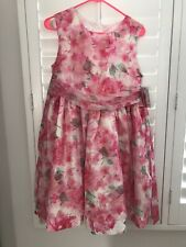 NWT Bonnie Jean Girls Pink Floral Tulle Dress Sz 20 1/2 20.5 Spring Easter