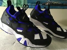 NEW NIKE AIR SCREAM ATHLETIC  SNEAKERS.....MENS SIZE 13....BLACK-WHITE-VIOLET