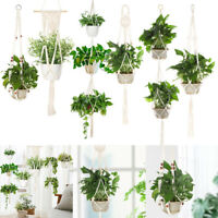 Macrame Plant Hanger Flower Pot Holder Garden Decor Hanging Planter Basket