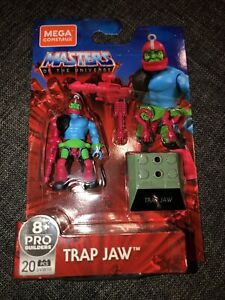 MEGA CONSTRUX MASTERS OF THE UNIVERSE TRAP JAW! Mint on Card, brand new MOTU
