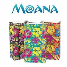 Disney Moana Birthday Gift Bags Luau Party Supplies Hibiscus Paper Bags 12 Pcs