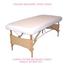 12 NEW MASSAGE TABLE FITTED SHEET LARGE MUSLIN T130 36''X84''X9'' MEASURE TABLE