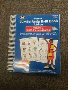 Jumbo Articulation Drill Book & CD Volume 2 Super Duper Speech Webber #Bk-2350