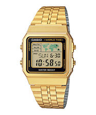 Casio A168 A178WA A159WGA-1/5/9A Digital watch Silver/Gold Tone Stainless Steel
