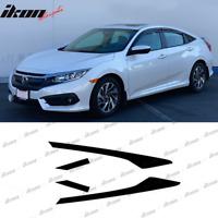Fits 16-20 Honda Civic Sedan Window Visor Trim Chrome Delete Kit