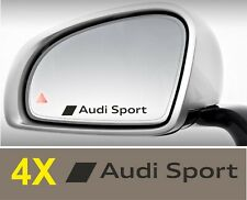 AUDI SPORT x4 side Mirror Decal Sticker Glass Silver Etched Car vinyl rs quattro