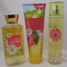 Bath & Body Works Love & Sunshine 3 Pc Set Gel Cream Fragrance Mist