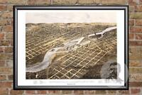 Vintage Minneapolis, MN Map 1867 - Historic Minnesota Art - Victorian Industrial