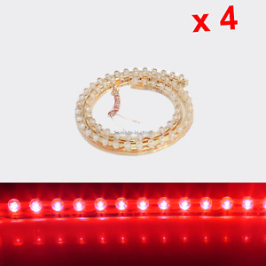 4x Red Flexible Strip Light 48CM Waterproof 48 Great Wall LED M013