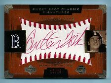CARLTON FISK 2004 SWEET SPOT CLASSIC SIGNATURES RED INK AUTOGRAPH AUTO /25