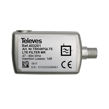Filtro Lte700/5g medio rechazo conector F 47...694mhz VHF/UHF (c21-48) Televes
