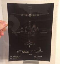 USAF ORIG USSR BULL MEDIUM BOMBER Projector Transparent Sheet Wall Decor
