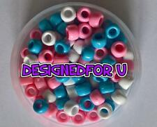 *3 FOR 2* Baby Opaque Mix 9x6mm 100 Barrel Highest Quality Pony Beads