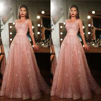 Women's Evening Party Long Maxi Dress Formal Sequins Ballgown Evening Prom Ball